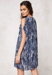 Izorte Dress Dark blue / White / Patterned