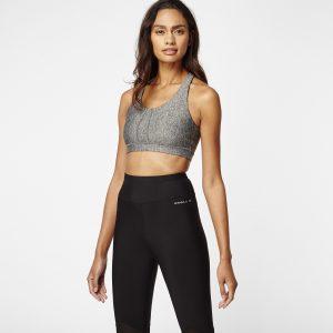 Sport Bra Bikini Top Grey Mix & Match Bikini