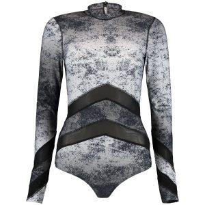 Bathing Long Sleeve Rash Guard Black Swimsuits