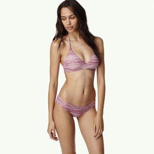 Print Crossover Bikini Red Bikinis