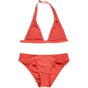 Smocked Halter Bikini Pink Bikinis