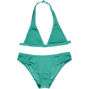 Smocked Halter Bikini Green Bikinis