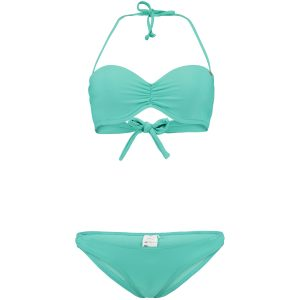 Solid Wire Bandeau Bikini Green Bikinis