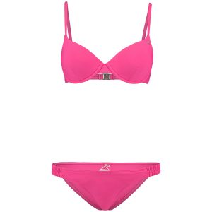 Solid Molded Wire Bikini Pink Bikinis