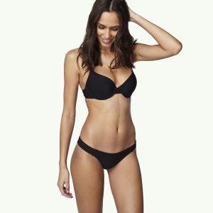 Solid Molded Wire Bikini Black Bikinis