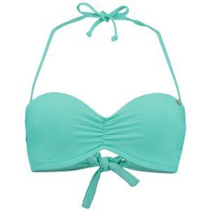 Molded Wire Bandeau Bikini Top Green Bikinis