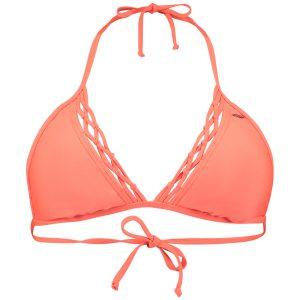 Print Triangle Bikini Top Pink Bikinis