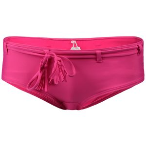 Print Boyshort Bikini Bottom Pink Bikinis
