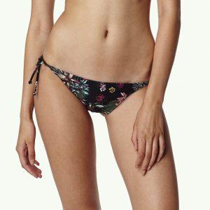 Tie Side Bikini Bottom Black Bikinis