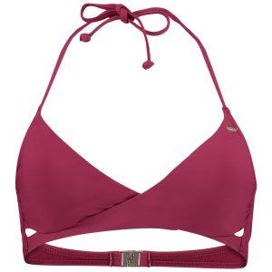 Solid Crossover Bikini Top Red Bikinis