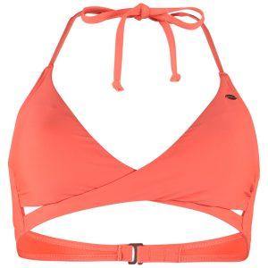 Solid Crossover Bikini Top Pink Bikinis
