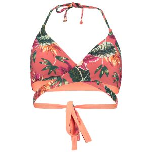 Reversible Wrap Around Bikini Top Red Bikinis