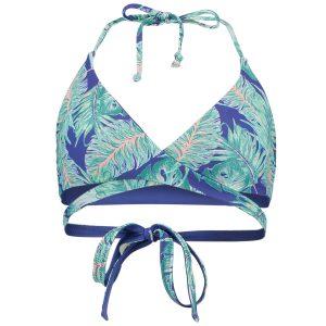 Reversible Wrap Around Bikini Top Blue Bikinis