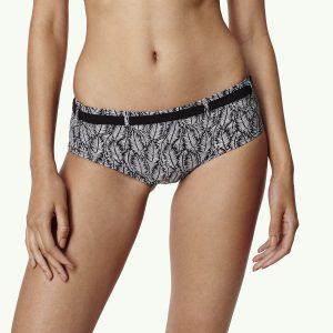 M&M Printed Boyshort Bikini Bottom Black Bikinis