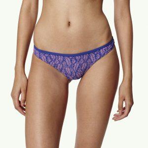 M&M Printed Regular Bikini Bottom Blue Bikinis