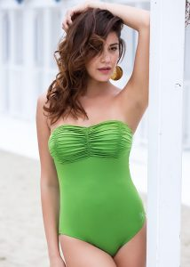 Acqua & Sale Anes Green Bandeau Swimsuit