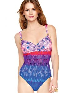 Gottex Cosmic Petals Surplice Swimsuit