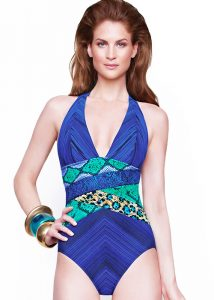 Gottex Emerald Boa Halter Neck Swimsuit