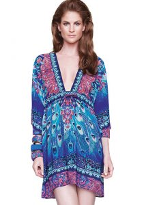 Gottex Exotic Peacock Beach Dress