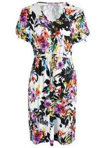 Rosch Flowers Round Neck Sun Dress