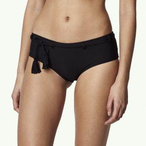 Print Boyshort Bikini Bottom Black Bikinis