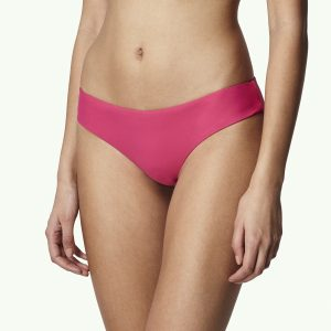 Print Cheeky Bikini Bottom Pink Bikinis
