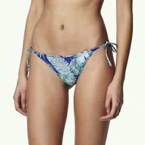 Reversible Tie Side Bikini Bottom Blue Bikinis