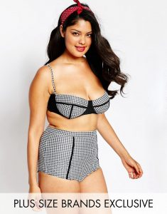 Big Guns for ASOS Hounds Tooth Bustier Bikini Top - Multi