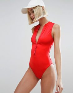 Cheeky Vest Swimsuit - Red