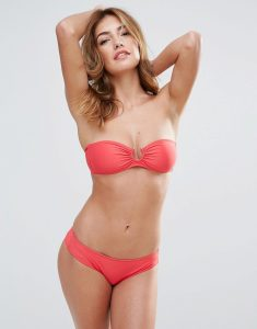 Chloe Bandeau Bikini Set - Red