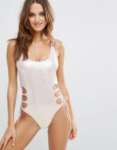 Cut Out Swimsuit - Pink