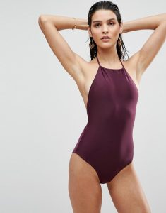 Halter Swimsuit - Purple