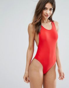 High Leg Swimsuit - Red