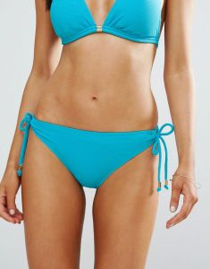 Java Tie Side Bikini Bottoms - Blue