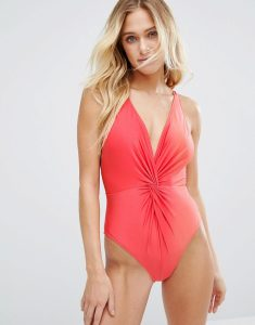 Joss Coral Shine Swimsuit - Pink