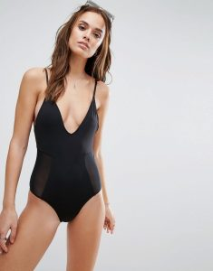 Limitless Mesh Side Swimsuit - Black