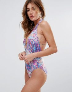Marble Rainbow Swimsuit - Multi