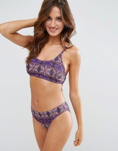 Multi Print Bikini Set with Multi Strap - Multi