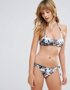Originals Marble Print Bikini Set - White