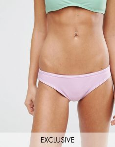 Pastel Mix And Match Hipster Bikini Bottom - Purple