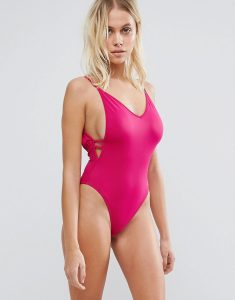 Plunge Side Swimsuit - Pink