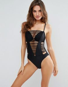 Praia Strappy Swimsuit - Black