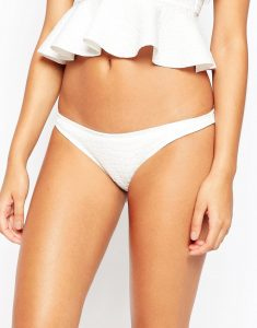Scuba Animal Textured Hipster Bikini Bottom - White