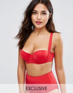 Slinky Strappy Back Bikini Top B-G Cup - Red