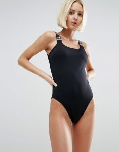 Square Scoop Swimsuit - Black