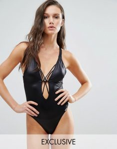 Strappy Back Swimsuit - Black
