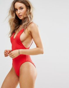 Ultimate Plunge Swimsuit - Red
