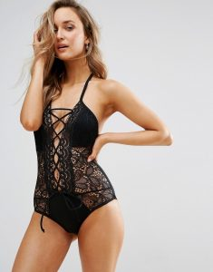 Vias Lace Swimsuit - Black