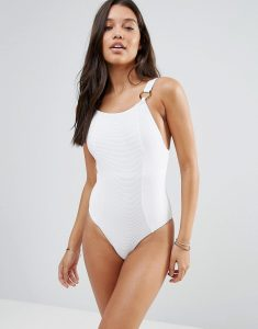 Zulu & Zephyr Northerly Ribbed Swimsuit - White