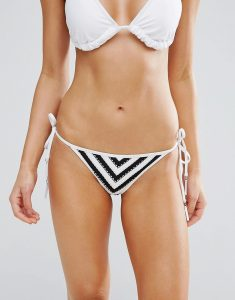 Coast To Coast Hipster Tie Side Bikini Bottom - Black
